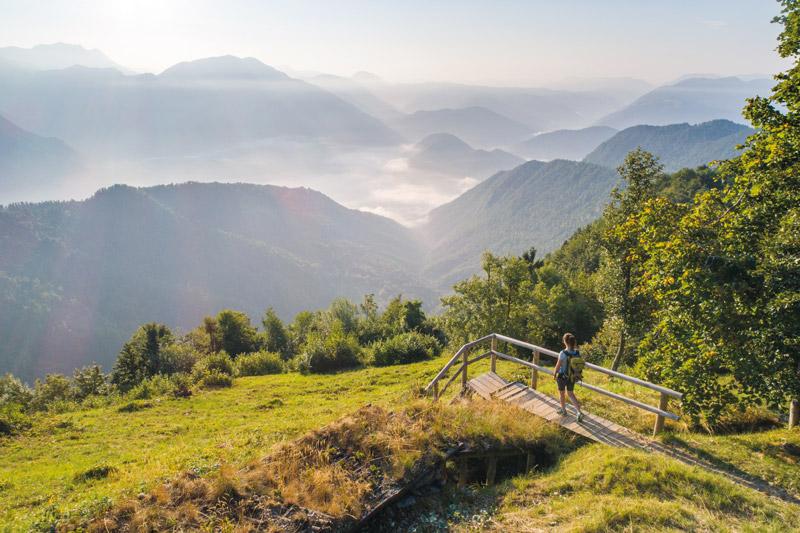 Kolovrat: An den hohen Wert des Friedens erinnert auch der Weitwanderweg Pot miru – Weg des Friedens. Foto: Kolovrat Jošt Gantar