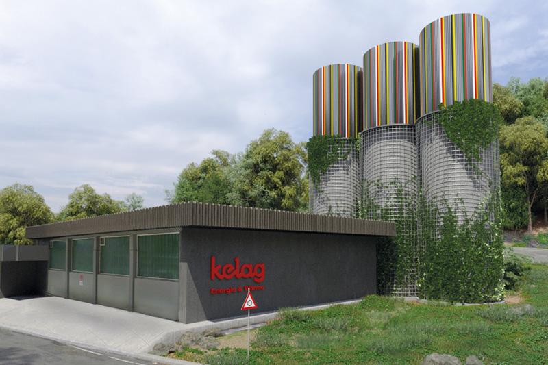 Der Fernwärme-Pufferspeicher wird rund 20.000 Kilowattstunden Wärme speichern können.Fotomontage: ARCH+MORE ZT GmbH