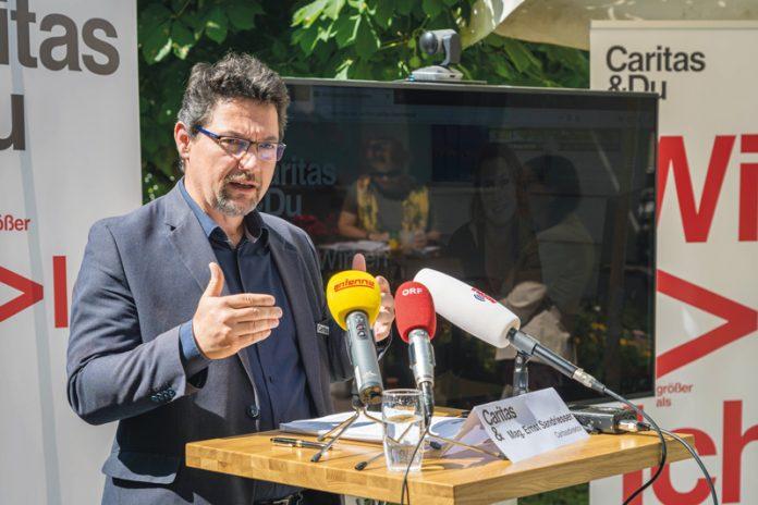 """Caritas-Direktor Mag. Ernst Sandriesser: """"Die Gesundheitskrise darf zu keiner Sozialkrise und zu keiner Bildungskrise werden.""""Foto: Caritas Kärnten"""